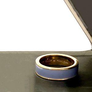 KATE SPADE lavender and gold enamel band ring sz 8